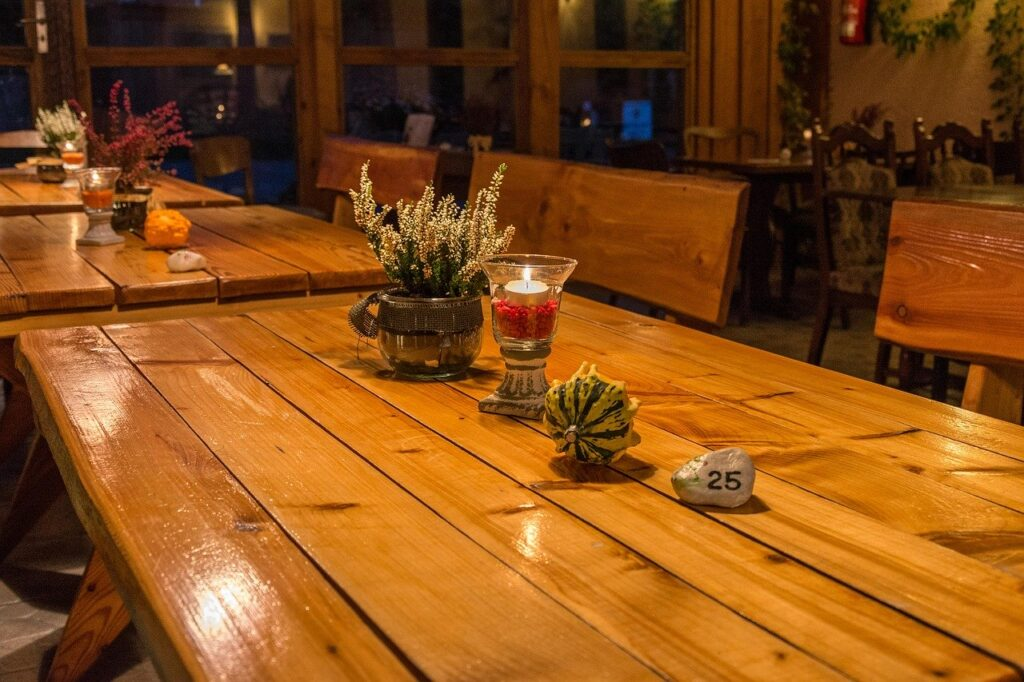 table, deco, autumn
